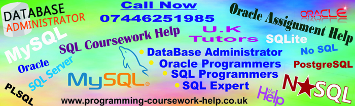 Help in Assignments  Database  Coursework  Programming JAVA PHP VB SQL XML C  C